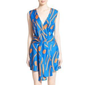 DIANE VON FURSTENBERG Faux Wrap Silk Dress